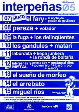 Cartel Pabellón Interpeñas 2005