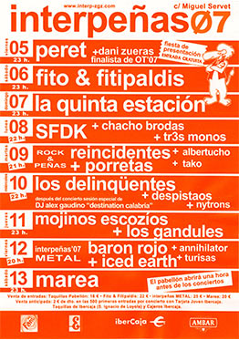 Cartel Pabellón Interpeñas 2007