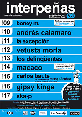 Cartel Pabellón Interpeñas 2009