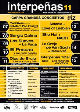 Cartel Pabellón Interpeñas 2011
